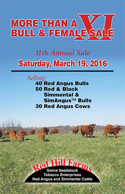 Red Hill Farms 2016 Sale Catalog